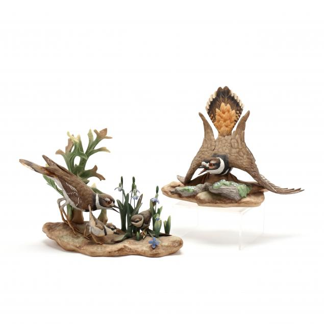 boehm-two-porcelain-killdeer-sculptures
