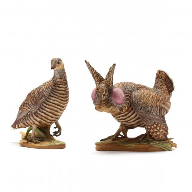 boehm-pair-of-lesser-prairie-chicken-sculptures