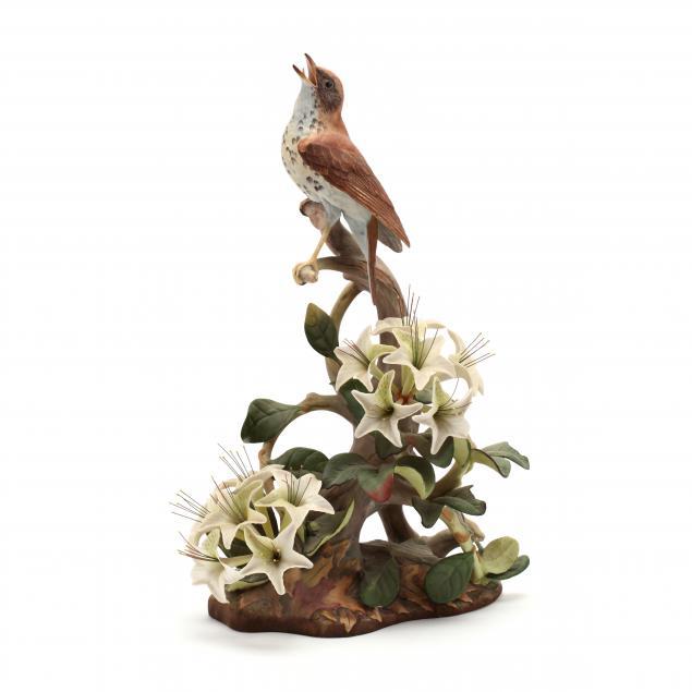 boehm-wood-thrushes-porcelain-sculpture