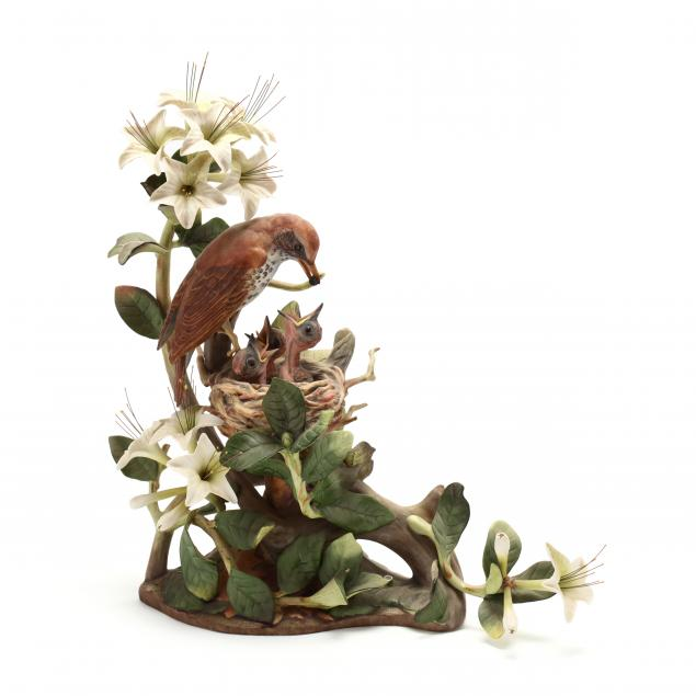 boehm-wood-thrushes-porcelain-sculpture
