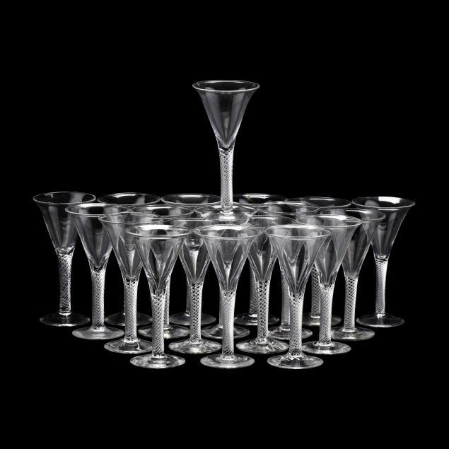 blenko-set-of-19-williamsburg-airtwist-red-wine-glasses