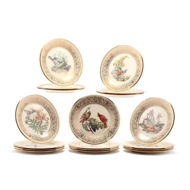 lenox-set-of-18-limited-edition-boehm-plates