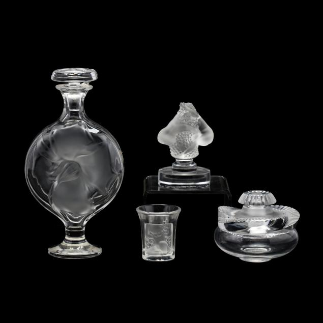 lalique-four-crystal-objects