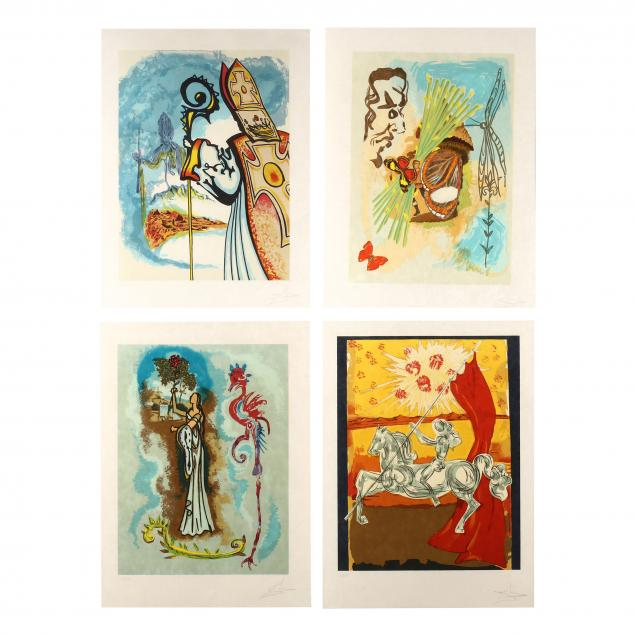 salvador-dali-spanish-1904-1989-i-ivanhoe-suite-i-complete-suite-of-four
