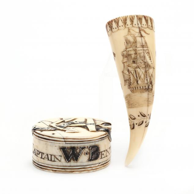 scrimshaw-whale-tooth-match-safe-and-whalebone-puzzle-box