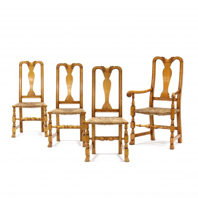 set-of-four-william-and-mary-style-maple-chairs