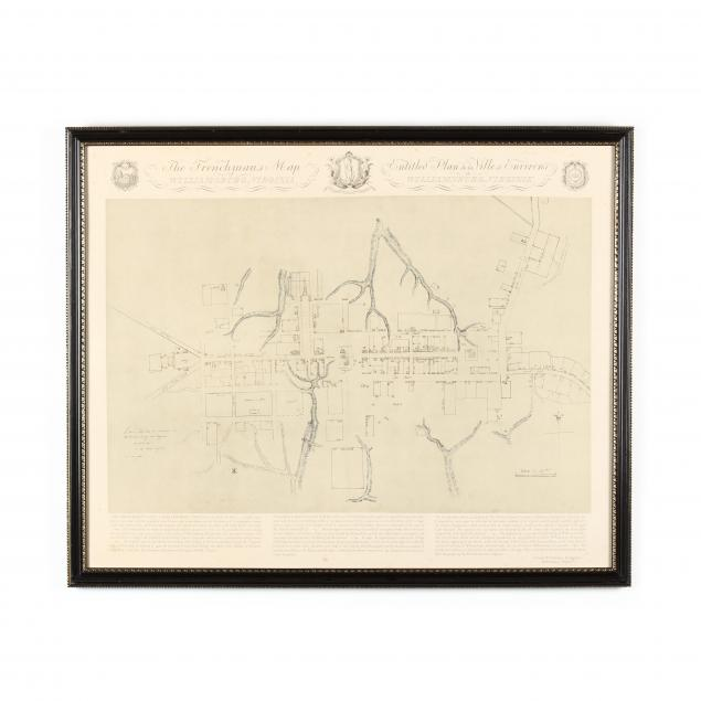 framed-facsimile-i-the-frenchman-s-map-of-williamsburg-virginia-i