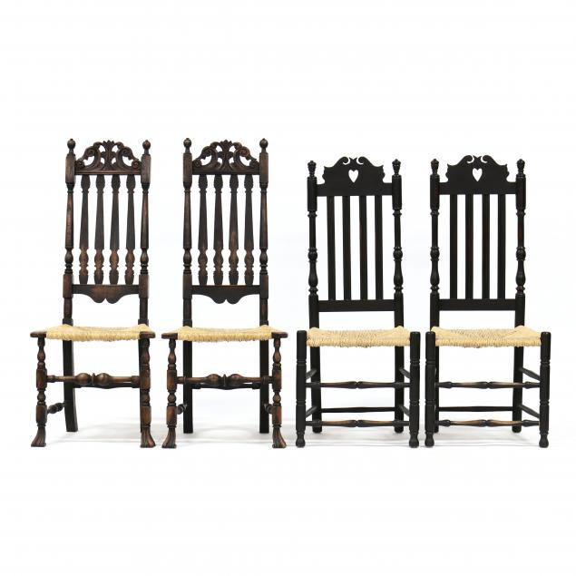 two-pairs-of-william-and-mary-style-painted-side-chairs