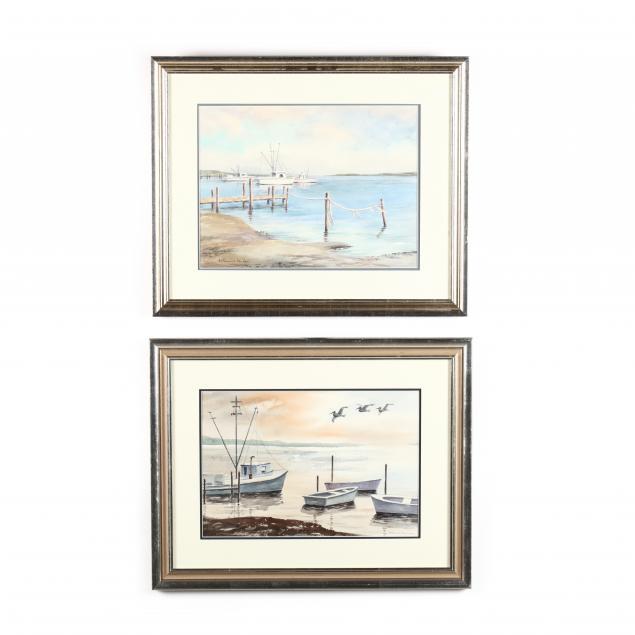 katherine-kenlan-american-20th-century-two-harbor-views
