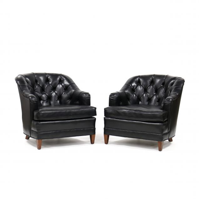 henredon-pair-of-tufted-barrel-back-club-chairs