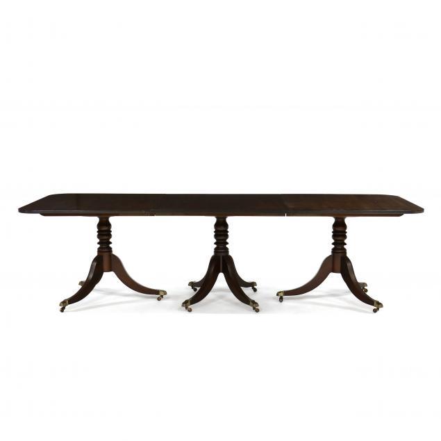 kittinger-williamsburg-adaptation-triple-pedestal-dining-table