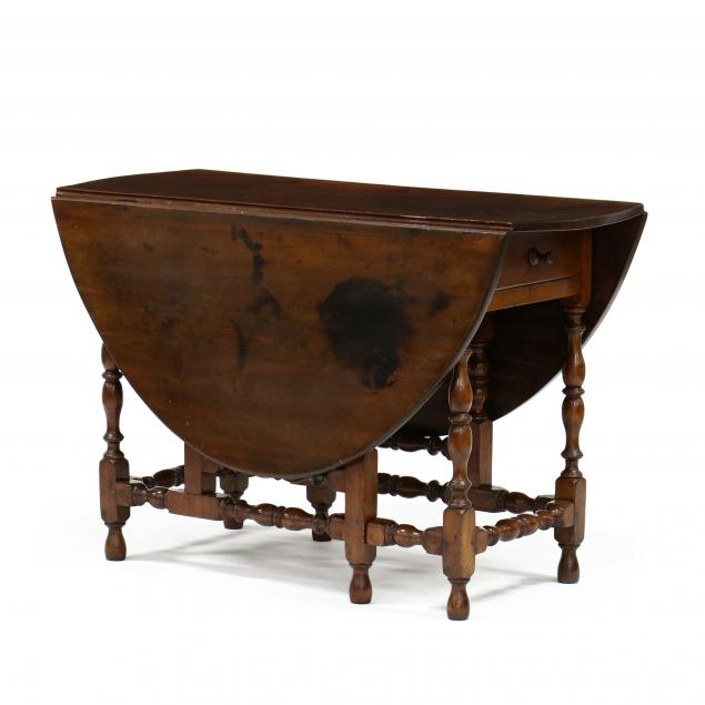 antique-american-william-and-mary-dropleaf-dining-table