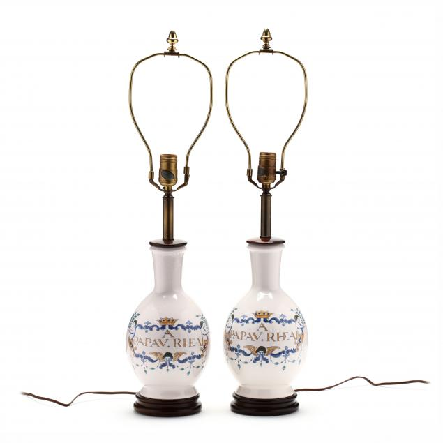 knob-creek-pair-of-faience-pottery-table-lamps