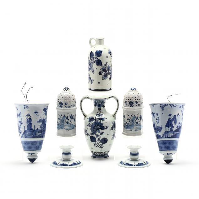eight-pieces-of-delft-porcelain