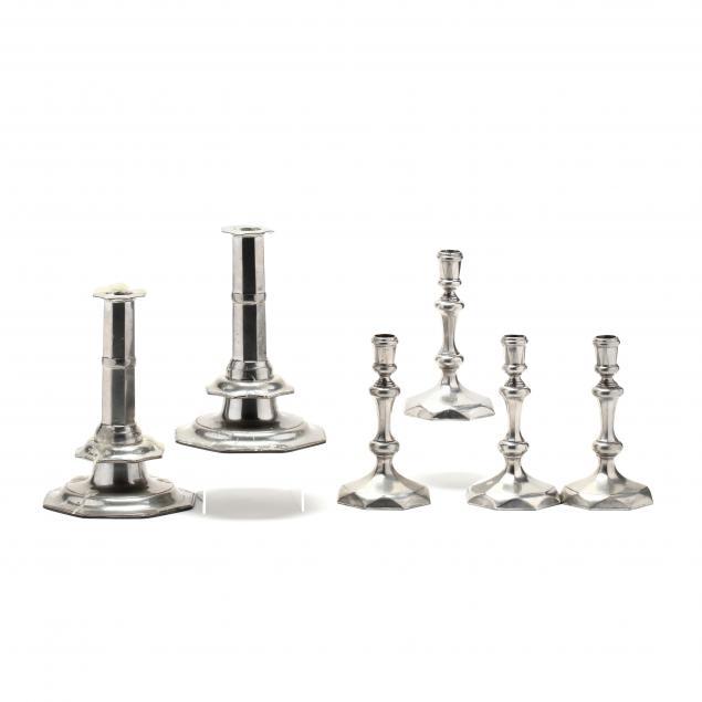 stieff-three-pair-of-pewter-candlesticks-for-williamsburg-restoration