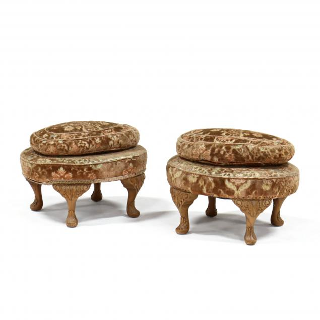 pair-of-continental-style-carved-walnut-foot-stools