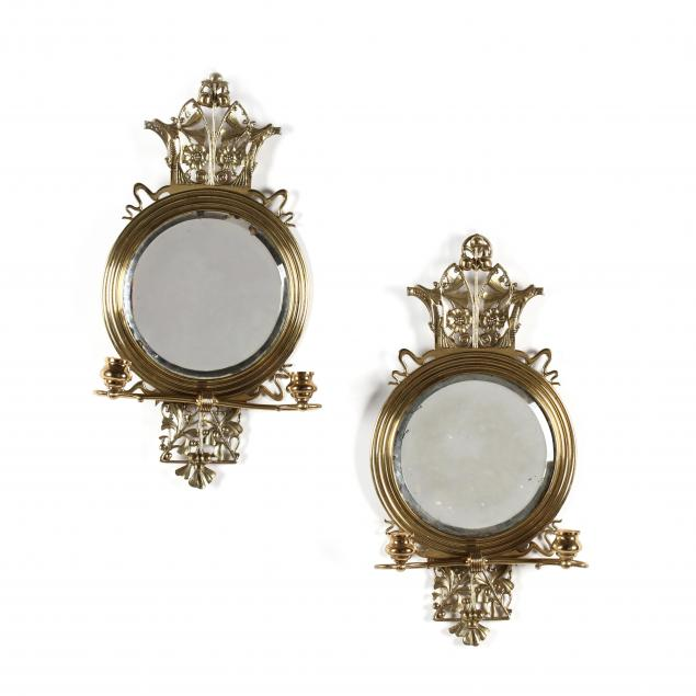 pair-of-aesthetic-period-mirrored-brass-sconces