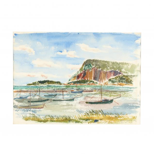 leonard-s-rozenfeld-20th-century-i-fishing-boats-cape-breton-island-i