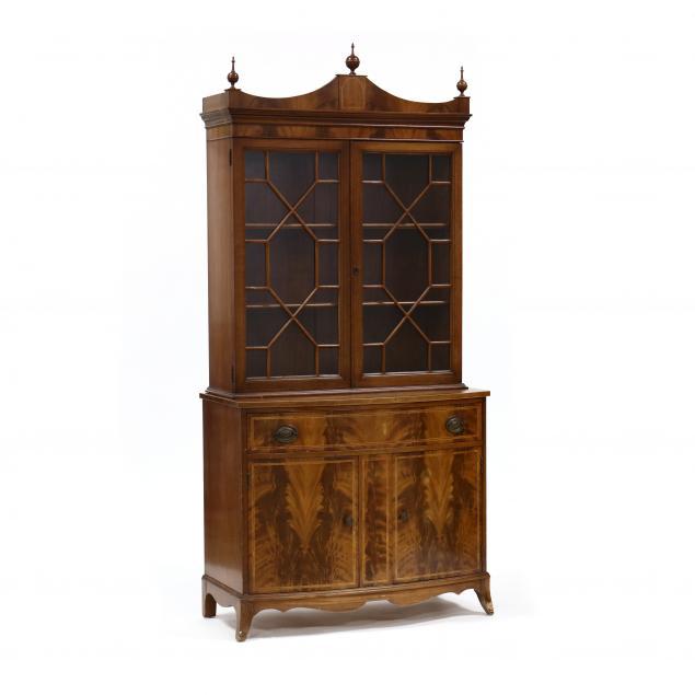 federal-style-inlaid-mahogany-china-cabinet