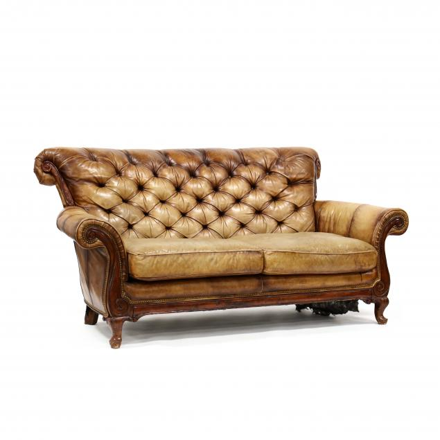 bradington-young-tufted-leather-sofa