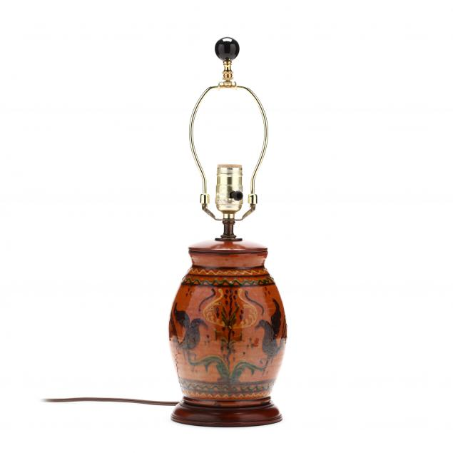 oh-pottery-greg-shooner-decorated-table-lamp