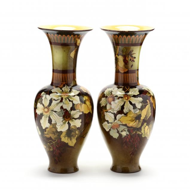 doulton-lambeth-pair-of-large-faience-pottery-vases