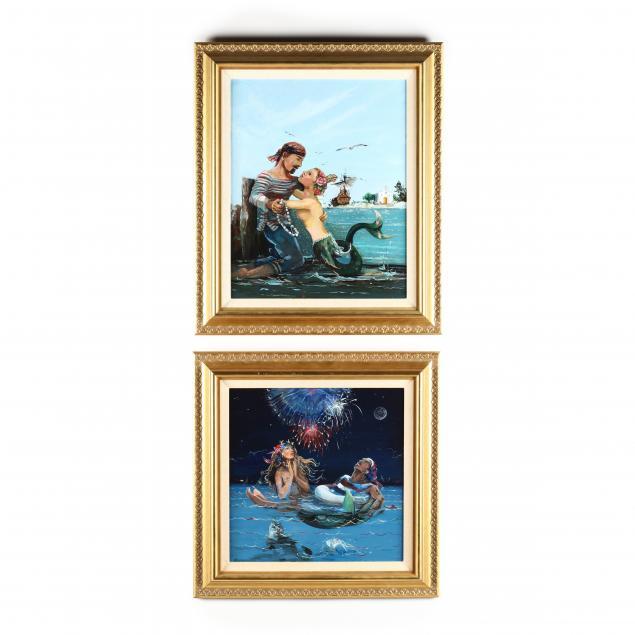 a-pair-of-whimsical-mermaid-sailor-paintings