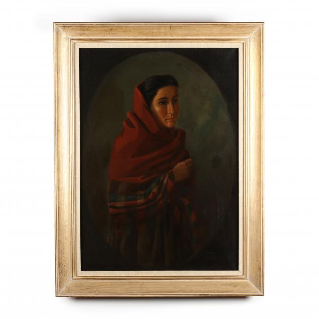 continental-school-circa-1900-young-woman-with-shawl