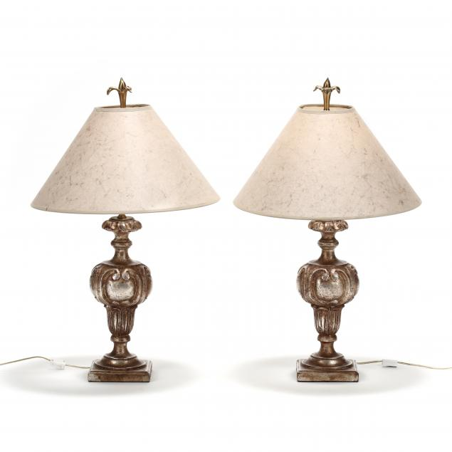 chapman-pair-of-continental-style-silvered-table-lamps
