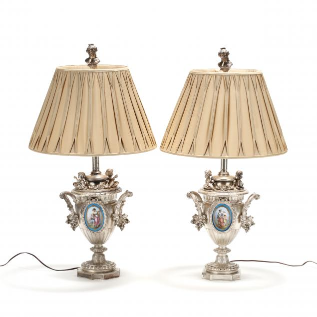 pair-of-french-silvered-urn-and-porcelain-table-lamps