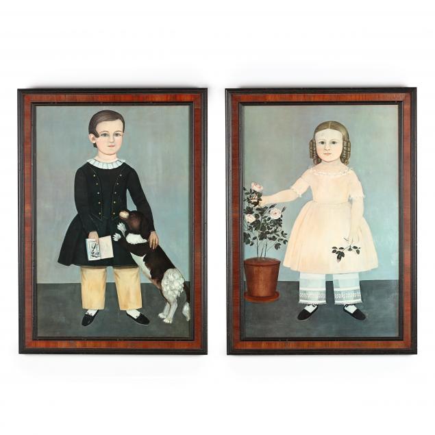 two-folk-art-prints-of-children-after-samuel-miller-american-1807-1853