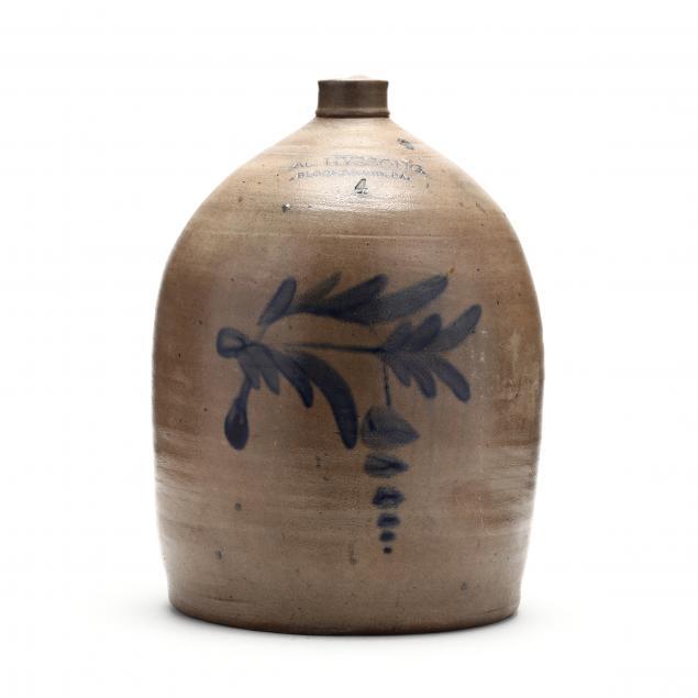 a-l-hyssong-four-gallon-stoneware-jug