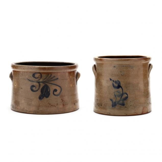 two-antique-three-gallon-stoneware-crocks