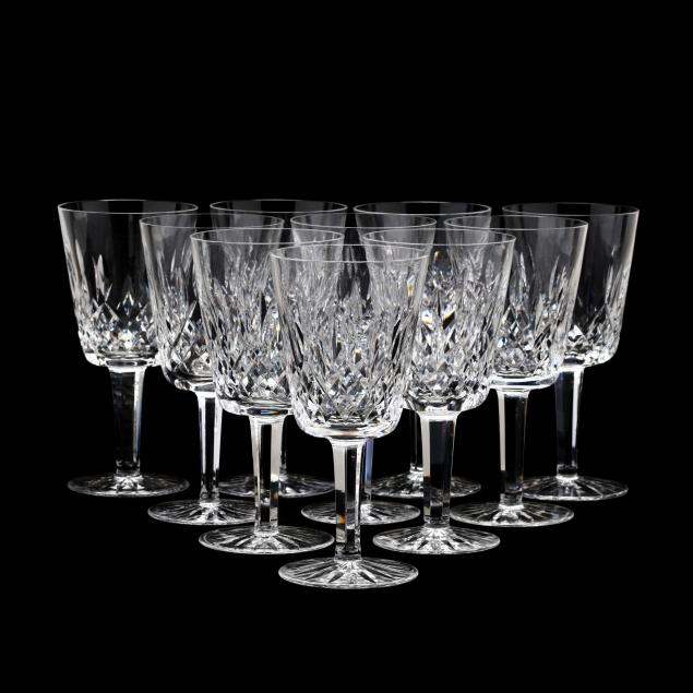 a-set-of-ten-waterford-lismore-crystal-water-goblets