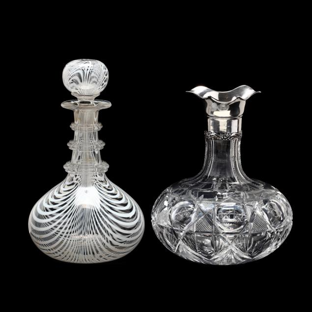 two-antique-glass-decanters
