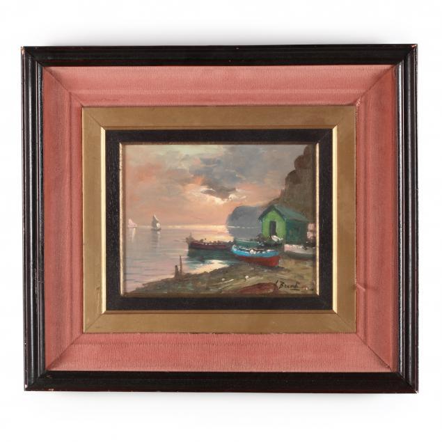 a-brandi-continental-20th-century-sunset-harbor