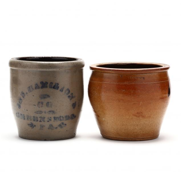two-signed-pennsylvania-stoneware-crocks