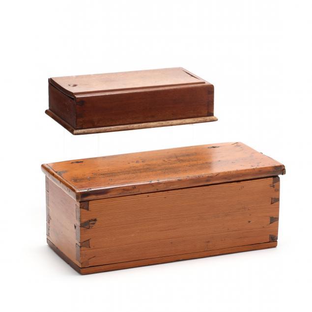 two-antique-primitive-storage-boxes