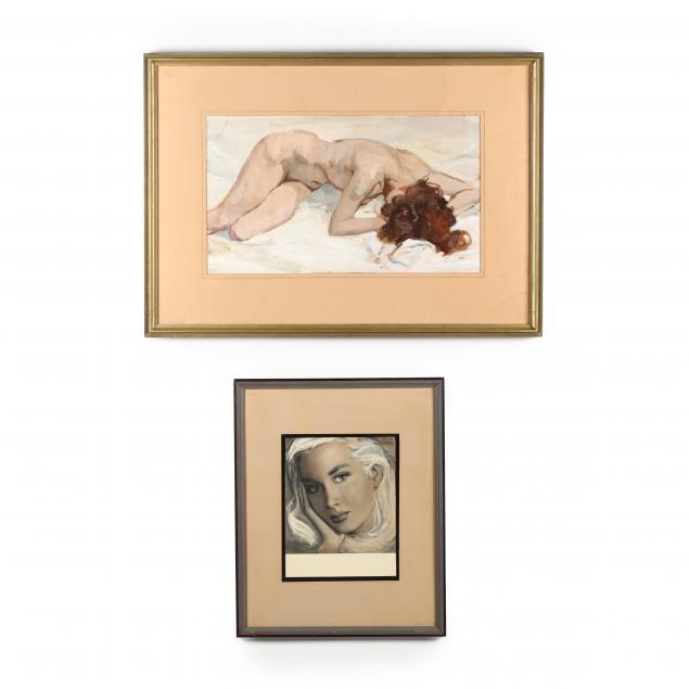don-neiser-1918-2009-two-female-illustrations