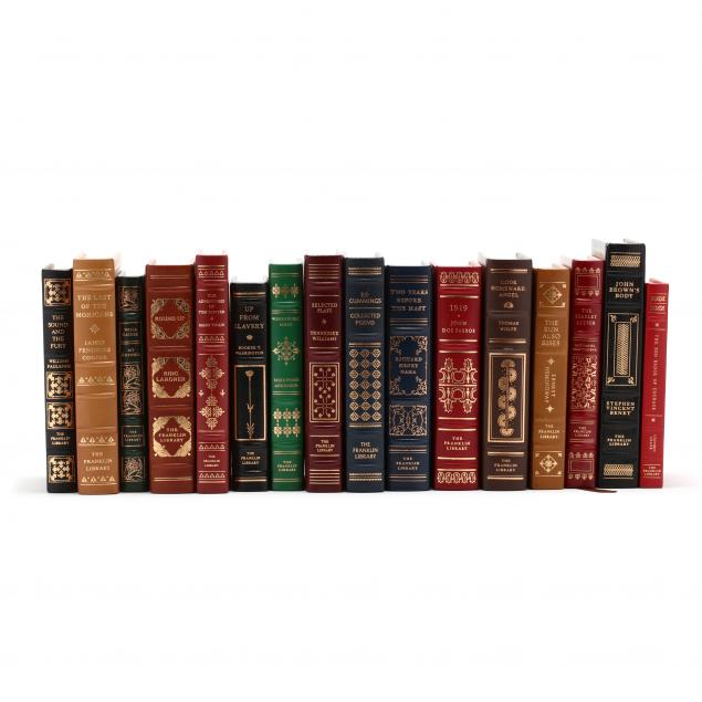 sixteen-deluxe-franklin-library-leatherbound-books