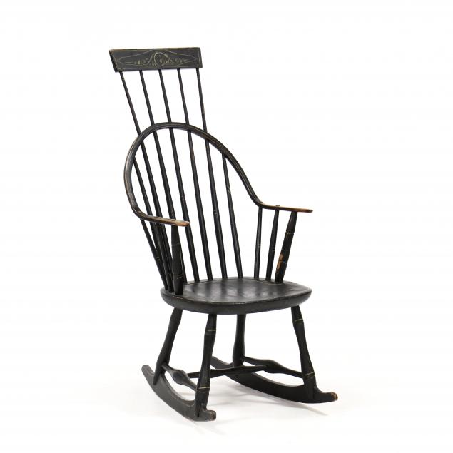 antique-american-comb-back-rocking-chair