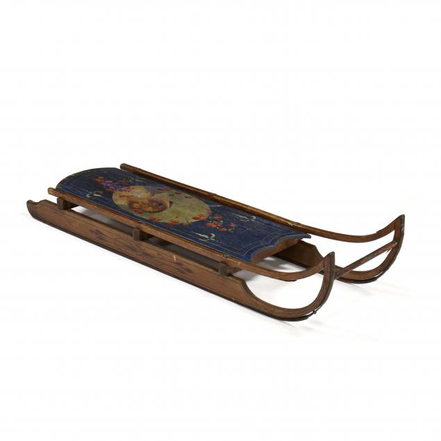 victorian-painted-child-s-sled
