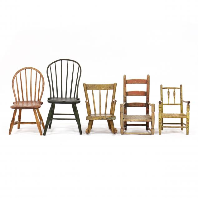 five-antique-child-s-chairs
