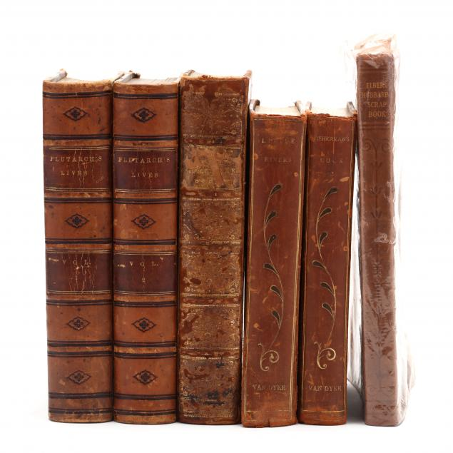 six-leatherbound-books-late-19th-early-20th-century