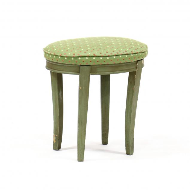 vintage-painted-and-upholstered-stool
