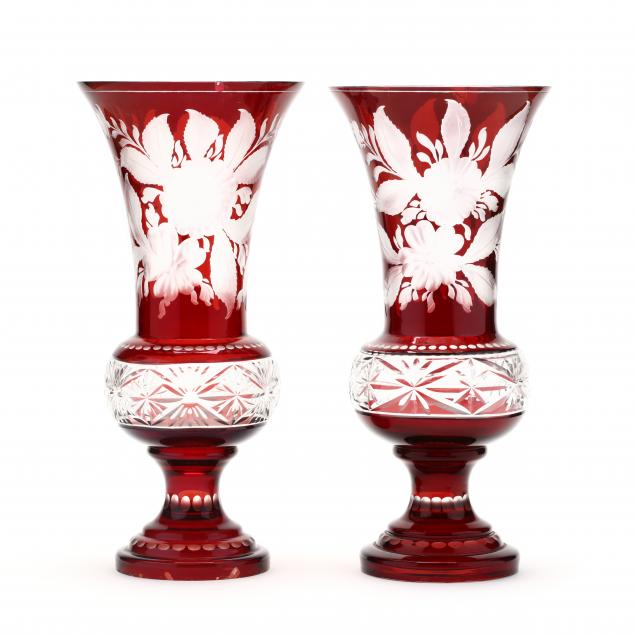 antique-pair-of-bohemian-ruby-cut-to-clear-vases