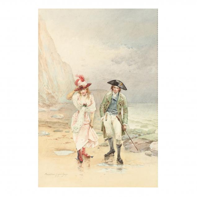 maximilienne-guyon-goepp-french-1868-1903-lovers-by-the-sea