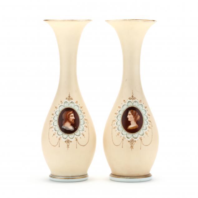 pair-of-bristol-glass-portrait-vases