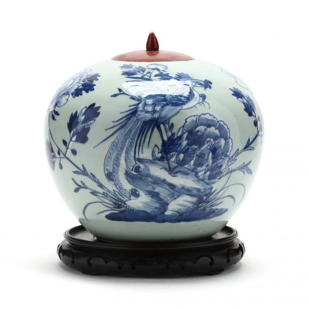 a-chinese-celadon-ground-blue-and-white-porcelain-ginger-jar