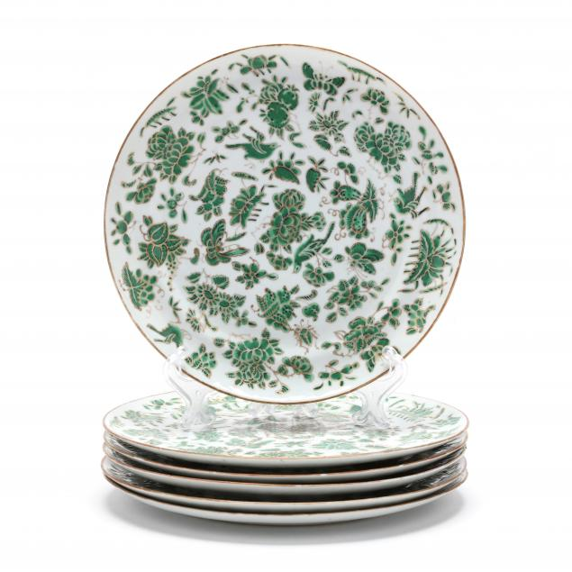 a-set-of-six-chinese-export-sacred-bird-and-butterfly-porcelain-plates